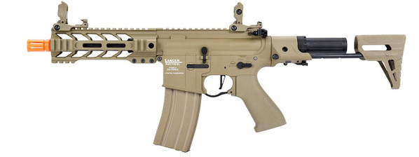 Lancer Tactical ProLine Series BATTLE HAWK PDW Low FPS AEG Airsoft Rifle, Tan