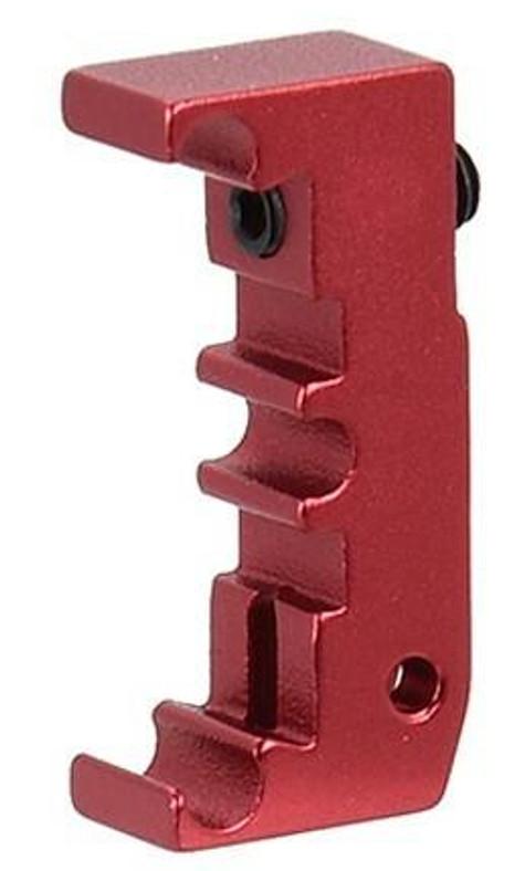 Airsoft Masterpiece Aluminum Puzzle Trigger Base, Red