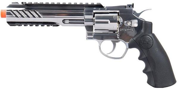 SRC Titan 6 Full Metal Co2 Airsoft Revolver, Silver