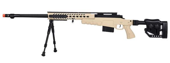 WellFire MB4418-2 Bolt Action Airsoft Sniper Rifle w/ Bipod, Tan