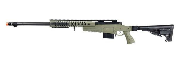 WellFire MB4418-1 Bolt Action Airsoft Sniper Rifle, OD Green