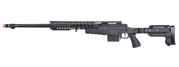 WellFire MB4418-3 Bolt Action Airsoft Sniper Rifle, Black