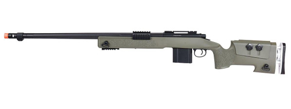 WellFire MB4417 M40A3 Bolt Action Airsoft Sniper Rifle, OD Green