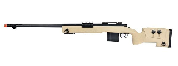 WellFire MB4416 M40A3 Bolt Action Airsoft Sniper Rifle, Tan