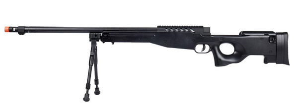 WellFire MB15 L96 Bolt Action Airsoft Sniper Rifle w/ Bipod, Black