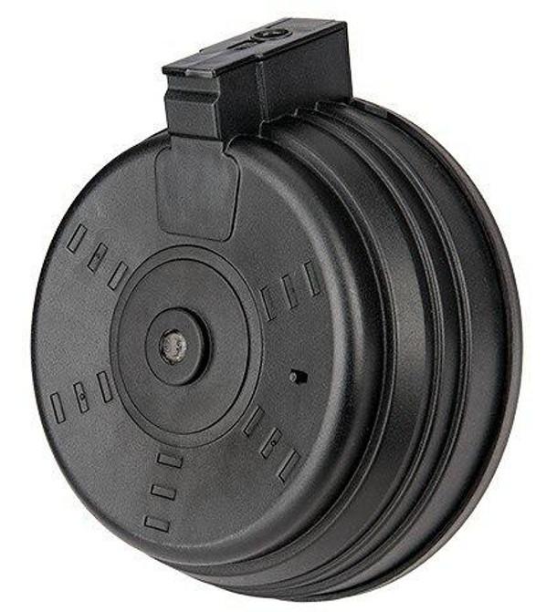 Sentinel Gears 3500rd AK Style Electric Winding Drum Magazine, Black