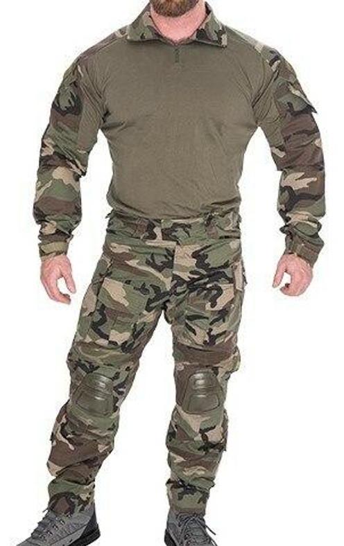 Lancer Tactical Combat Tactical Uniform Set, Woodland