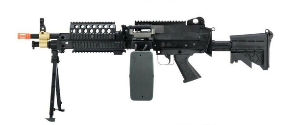 Cybergun FN Herstal Licensed MK46 AEG Airsoft Rifle, Black