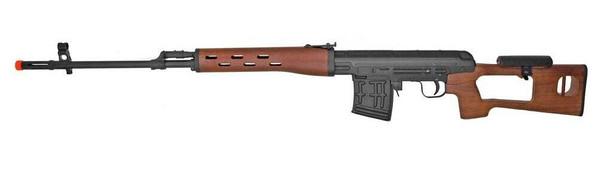 CYMA CM057 AK SVD Full Metal AEG Airsoft Sniper Rifle, Real Wood