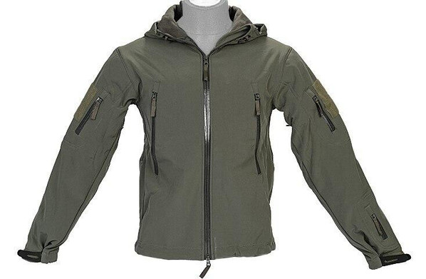 Lancer Tactical Soft Shell Jacket w/ Hood, Sage