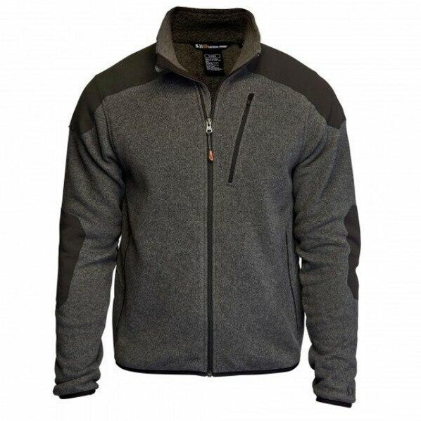 5.11 Tactical Polyester Full Zip TDU Fleece Sweater, Gun Powder