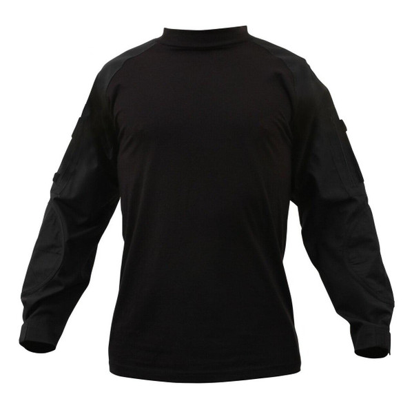 Rothco Military Combat Shirt w/ Reinforced Elbows, Black