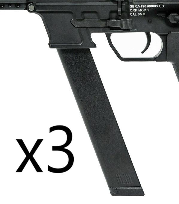 KWA QRF Series MOD 2 120rd Mid-Cap Magazine, 3-Pack
