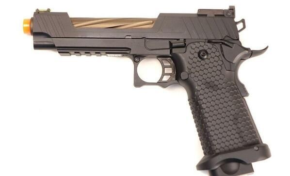 JAG Arms GMX Series 1.0 Gas Blowback Airsoft Pistol, Bronze Barrel