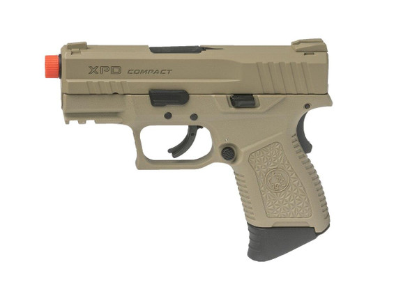 ASG XPD Compact Gas Blowback Airsoft Pistol, Tan
