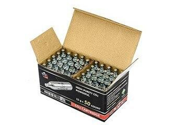 Puff Dino 12g CO2 Cartridge, 50 Pack