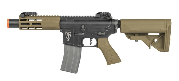 Elite Force M4 CQC AEG Airsoft Rifle, Black/FDE