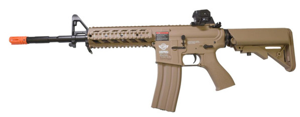 GandG Combat Machine CM16 Raider-L AEG Airsoft Rifle Combo, Tan