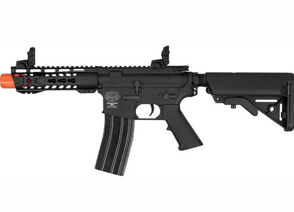 Valken Alloy MK I Full Metal AEG Airsoft Rifle, Black - left view