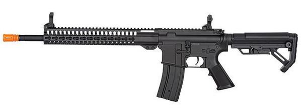 Golden Eagle F6645 KeyMod 16 M4 AEG Airsoft Rifle, Black - left view