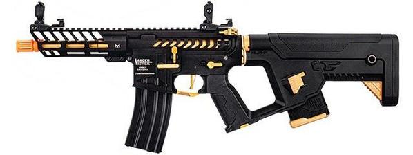 Lancer Tactical Enforcer NEEDLETAIL Skeleton Low FPS AEG Airsoft Rifle w/ Alpha Stock, Gold