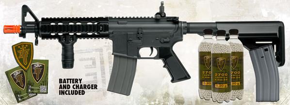 Elite Force M4 CQB Black Airsoft Rifle Kit