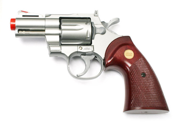 "UHC 2.5"" Barrel Airsoft Revolver, Silver"
