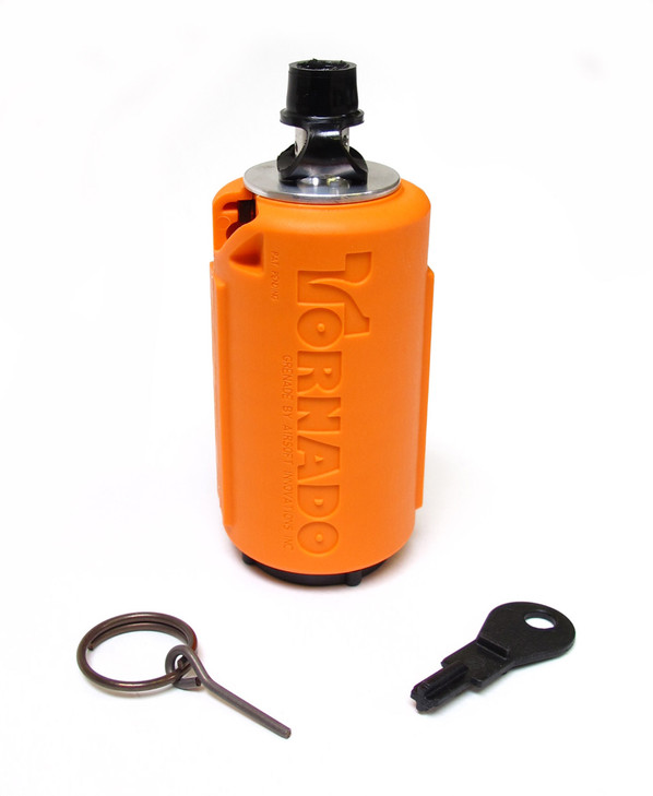 AI Tornado Grenade, Gas Powered Airsoft Grenade by Airsoft Innovations, Orange