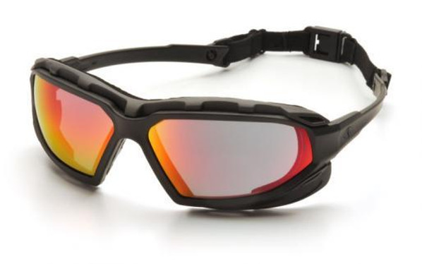 Pyramex Highlander Plus Airsoft Safety Goggles, Sky Red Mirror Lens