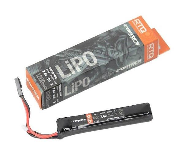 Raptors Airsoft 7.4V 1200 mAh 20C Mini LiPO Battery for Airsoft