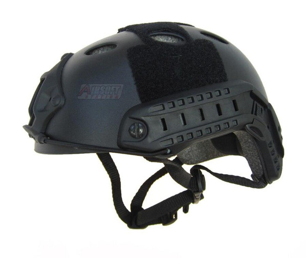 Raptors Airsoft RTV PJ Tactical Airsoft SpecOps Military Style Helmet with Rails, Black