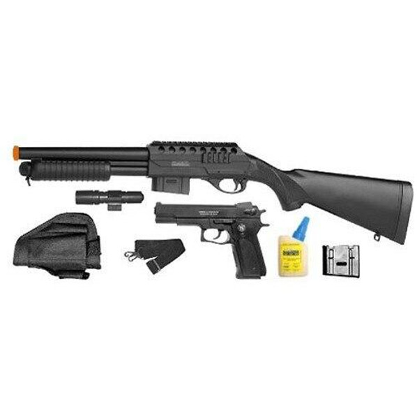 Smith and Wesson M3000 On Duty Kit, Airsoft Shotgun and Pistol Combo