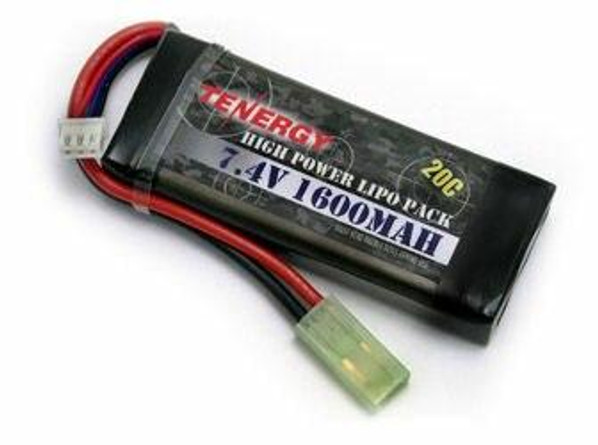 Tenergy LiPo 7.4V 1600mAh 20C Rechargeable Battery Pack