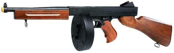Thompson M1A1 Civilian AEG Airsoft Rifle with Drum Mag