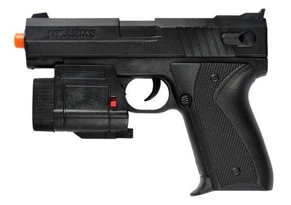 UK Arms 666AF Spring Airsoft Pistol w/ Laser and LED Flashlight