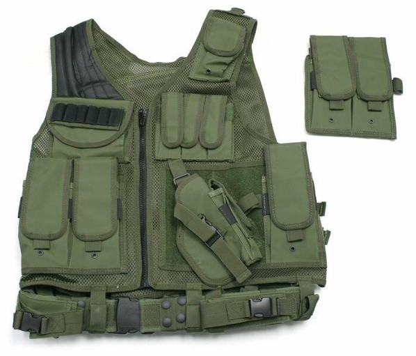 UTG Airsoft Deluxe Tactical Vest OD Green