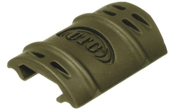 UTG Rubber Rail Covers, Green 12 pack