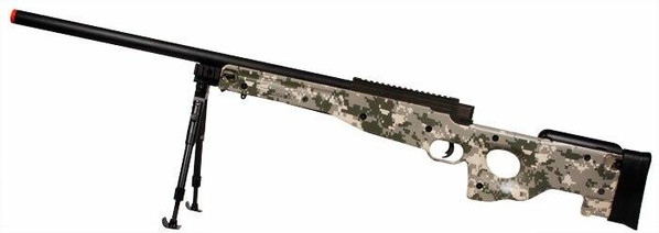 UPGRADED UTG Type 96 Airsoft Sniper Rifle 500 FPS, Army Digital Camo ACU