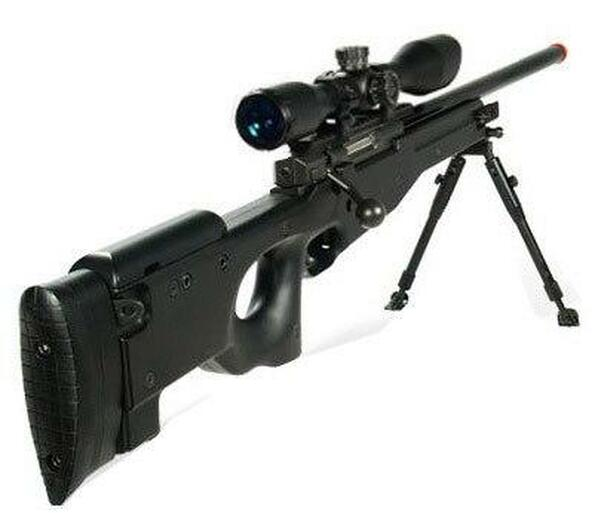UTG Type 96 Shadow Ops Airsoft Sniper Rifle Kit, Black