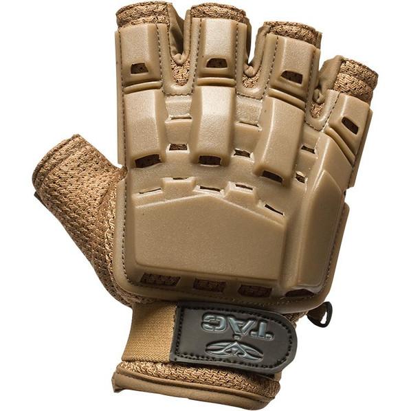 V-Tac Half Finger Armored Gloves, Tan