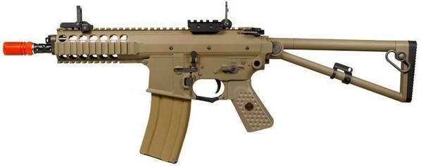 WE KAC PDW Compact Gas Blowback Airsoft Rifle, Tan