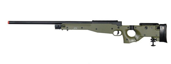 Well MB08 Airsoft Bolt Action Sniper Rifle w/ Folding Stock and Bipod, OD Green