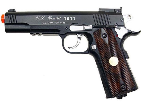 WG Full Metal US Combat 1911 CO2 Airsoft Pistol, Black