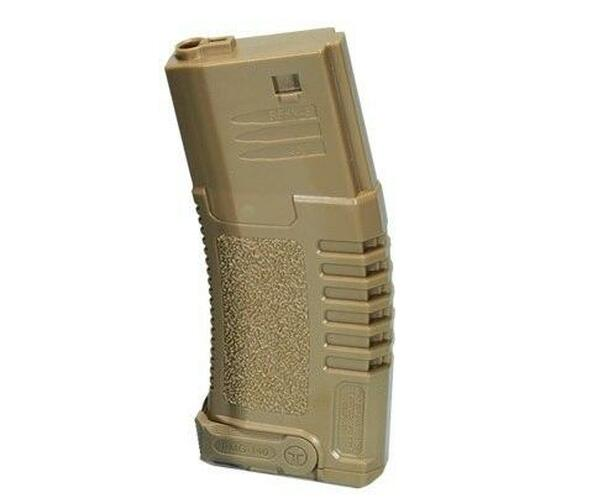 Ares Amoeba ABS Mid Cap Mag, 140 Rounds, Dark Earth, 10 Pack