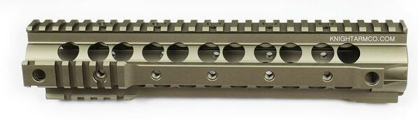 Knights Armament Airsoft URX 3.1 Rail System 10.75 in Burnt Bronze
