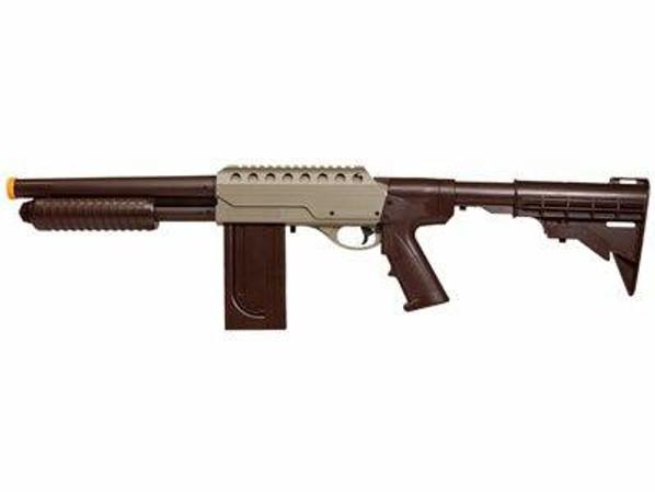Marines Airsoft SS01 Slam Fire Airsoft Shotgun, Tan/Black