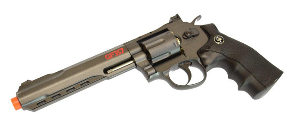 Game Face GF357 6 Full Metal Airsoft Revolver, Black