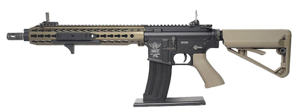BOLT Recoil Shock System Blowback B4 KEYMOD Full Metal Tan and Black Two-Tone Airsoft Rifle