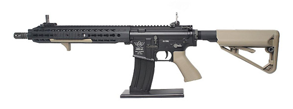 BOLT Recoil Shock System Blowback B4 KEYMOD Full Metal Black and Tan Two-Tone Airsoft Rifle