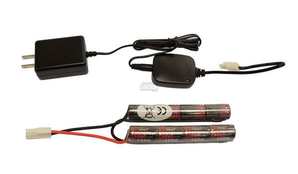 9.6v 1600mAh Nunchuck Battery and 500mAh Smart Charger Combo